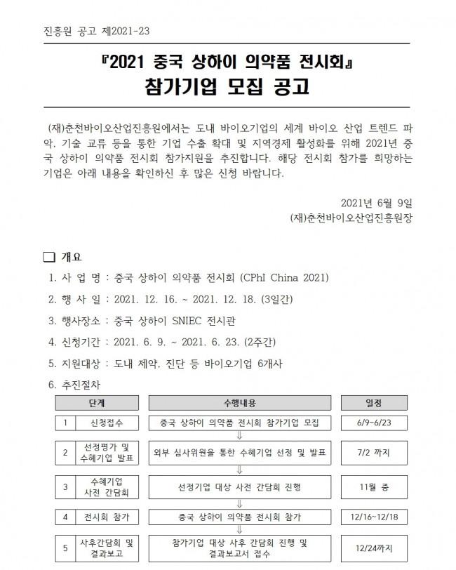 [공고] 2021 중국 상하이 의약품 전시회 참가기업 모집 공고001.jpg